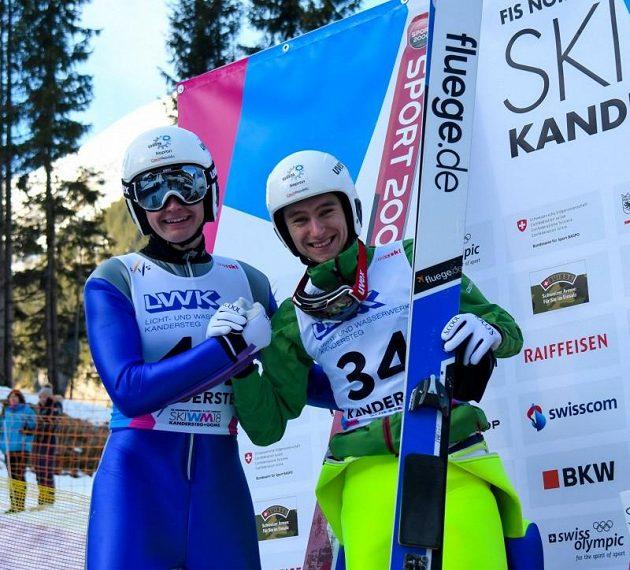 Čeští medailsté z MSJ - Jan Vytrval (vlevo) a Ondřej Pažout.
