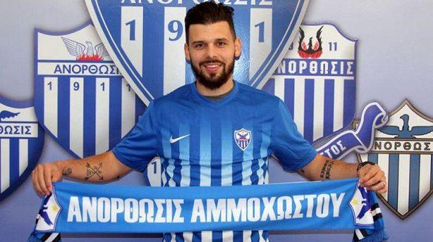 Michal Ďuriš v barvách Anorthosisu Famagusta.