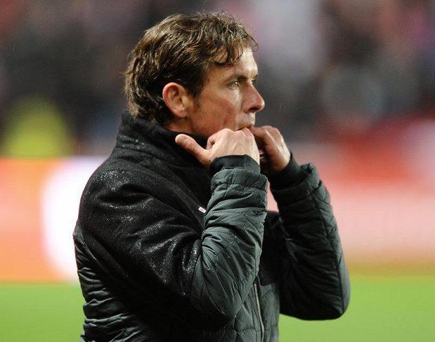 Trenér Slavie Praha Alex Pastoor.