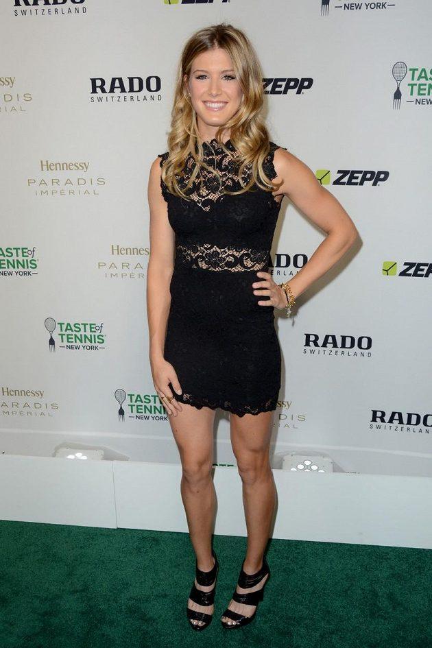 Kanadská tenistka Eugenie Bouchardová zapózovala v šatech před blížícím se US Open.