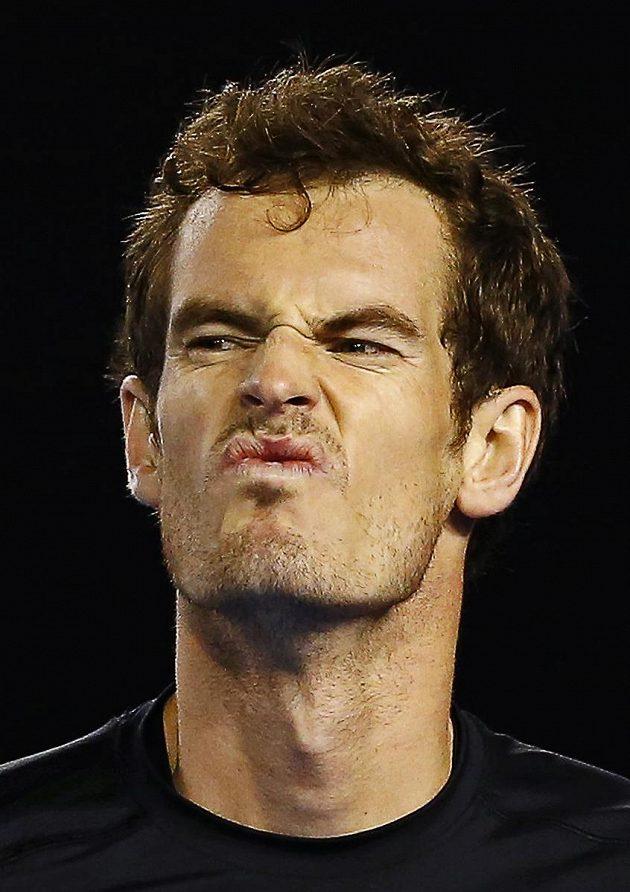 Grimasa Andyho Murrayho během semifinále Australian Open.