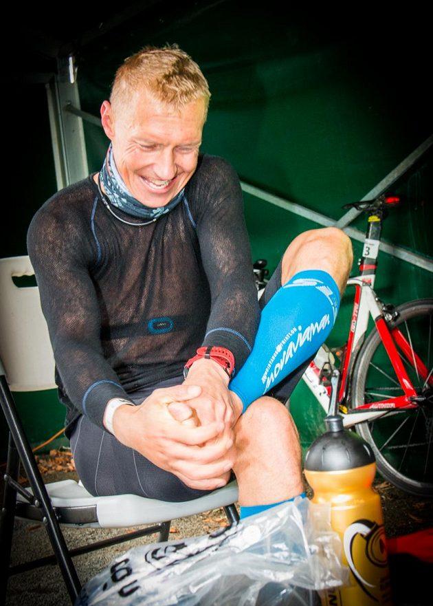 Vynikající český triatlet Petr Vabroušek používá triko Brynje na těch nejextrémnějších závodech.