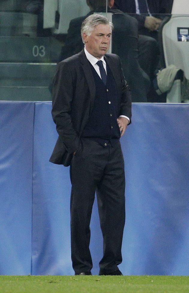 Kouč Realu Carlo Ancelotti během semifinále Ligy mistrů proti Juventusu.