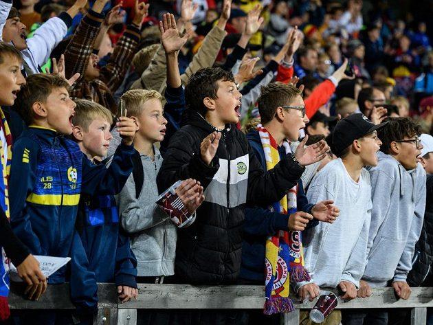 Děti, fanoušci Sparty Praha během utkání s Rangers.