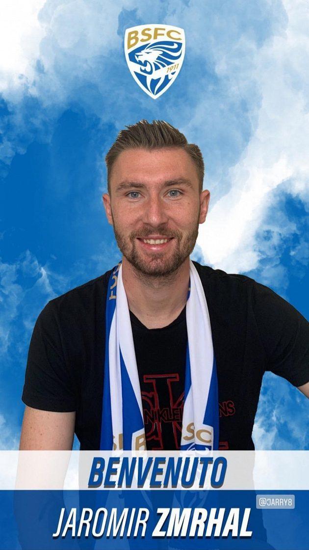 Fotbalový záložník Jaromír Zmrhal se upsal na čtyři roky italské Brescii.