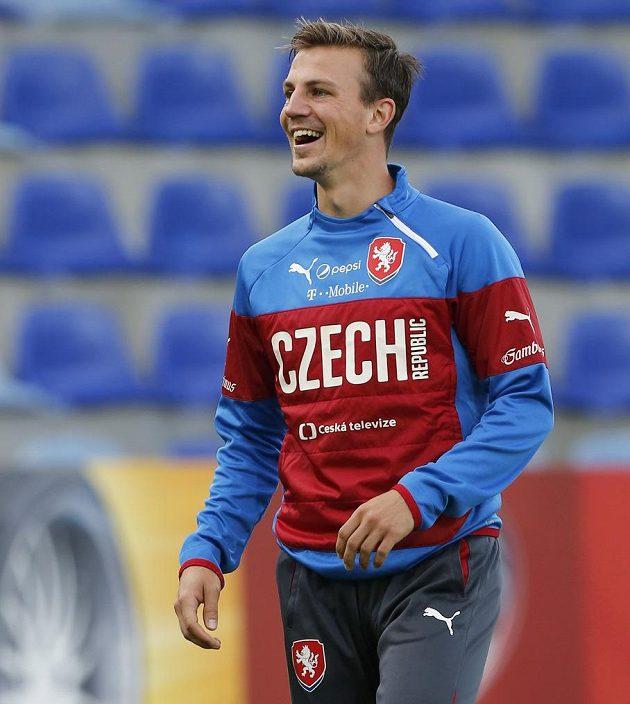 Vladimír Darida na tréninku fotbalové reprezentace