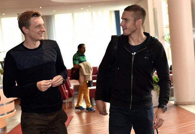 Sparťanská dvojka Ladislav Krejčí (vlevo) a Pavel Kadeřábek.