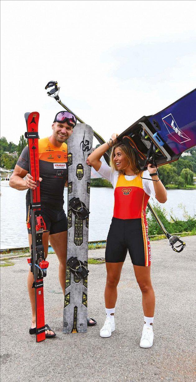 Skifařka Ester Ledecká a lyžař a snowboardista Ondřej Synek. Nebo naopak?