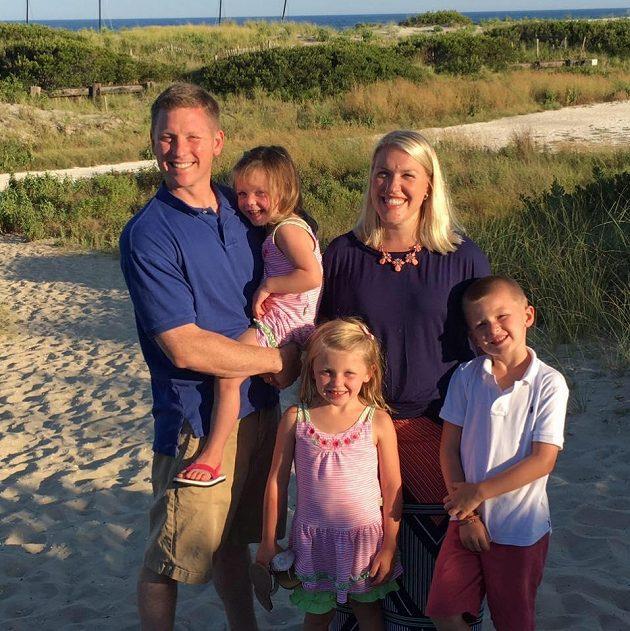 Lindsay O'Rourke Doherty s rodinou.