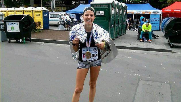 Radost v cíli maratónu byla obrovská.