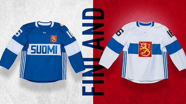Dres Finska pro Světový pohár v hokeji.
