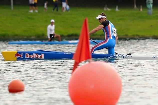 Kanoista Martin Fuksa na mistrovství světa v Miláně.