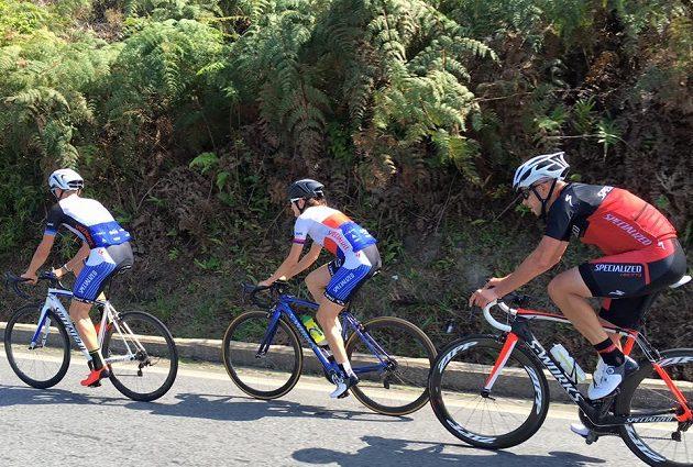 Cyklistický trénink české rychlobruslařské šampiónky v Brazílii.