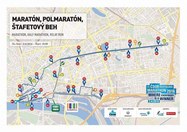 Trasa maratónu slibovala rychlý závod.