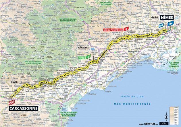 Mapa 13. etapy Tour de France