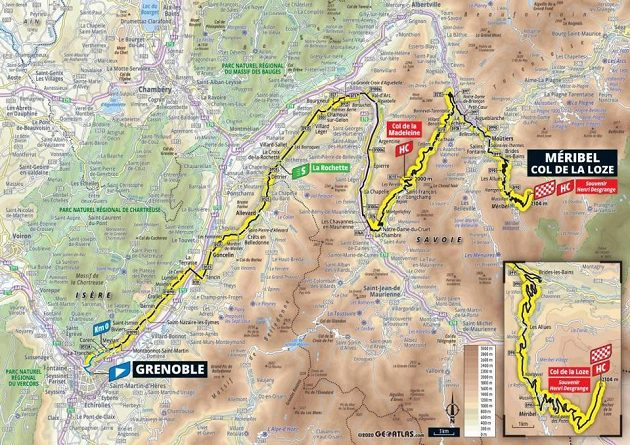 Trasa 17. etapy Tour de France