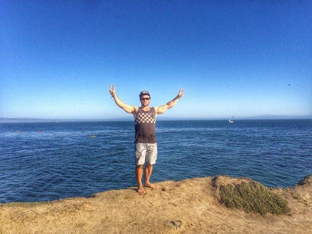 Vavřinec Hradilek si na západním pobřeží užil i krásného počasí.