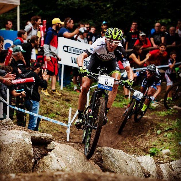 Ondřej Cink během závodu ve Val di Sole.