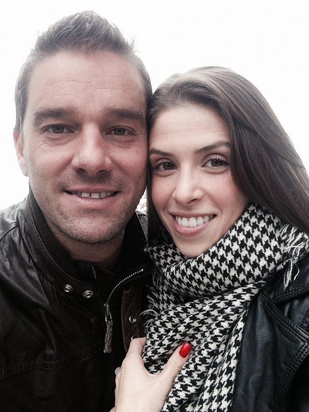 Petr Švancara s Monikou Čuhelovou.
