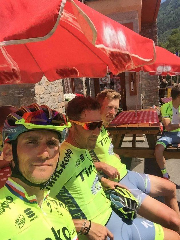 Roman Kreuziger během volného dne na Tour de France.