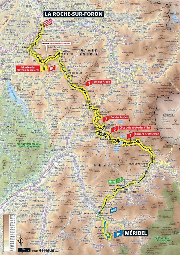 Mapa 18. etapy 107. ročníku Tour de France