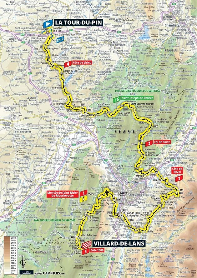 Mapa 16. etapy Tour de France