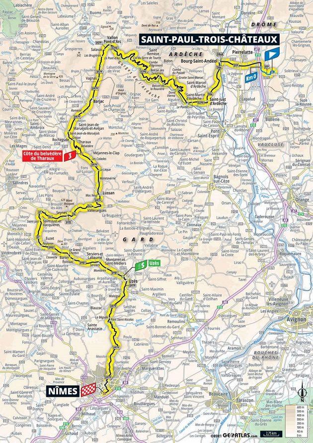 Mapa 12. etapy Tour de France