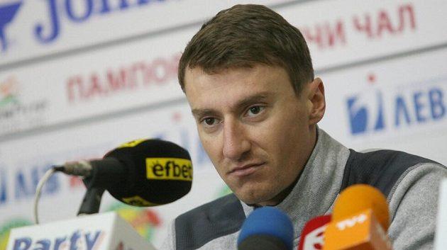 Krasimir Anev na tiskové konferenci.