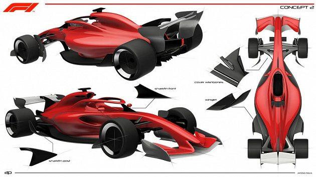 Druhý koncept Formule 1 pro rok 2021.