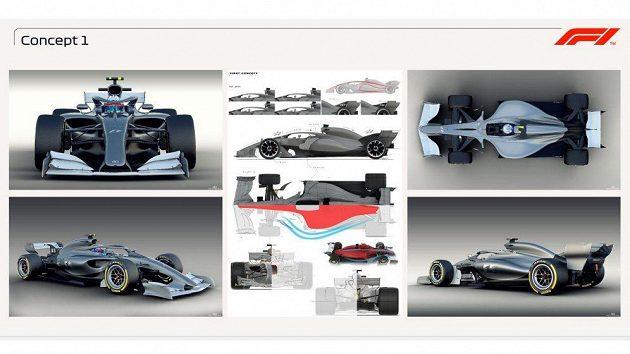 První koncept Formule 1 pro rok 2021.