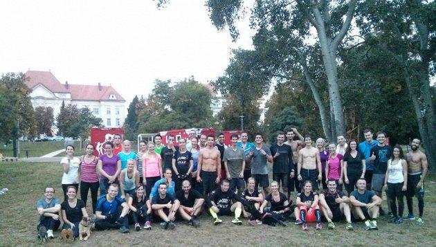 Tréninková skupina Spartan Race z Brna.