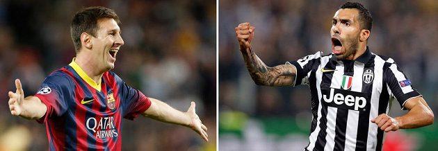 Lionel Messi (vlevo) a Carlos Tévez. Od Milénia dva nejúspěšnější argentinští útočníci.