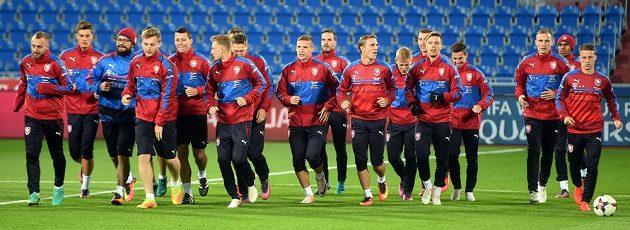 Pondělní trénink české fotbalové reprezentace před zápasem kvalifikace mistrovství světa s Ázerbájdžánem.