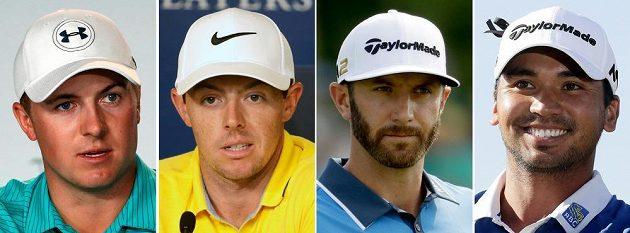 Zleva Jordan Spieth, Rory McIlroy, Dustin Johnson a Jason Day. Ani jeden z těchto špičkových golfistů se na olympiádě v Riu nepředstaví.