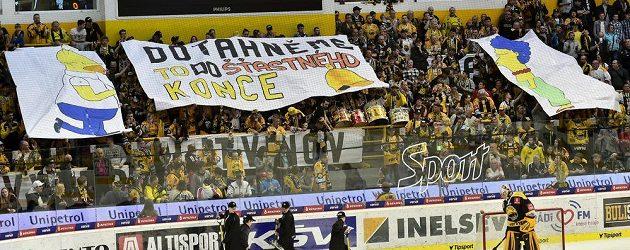 Fanoušci dali hokejistům Litvínova najevo, jak by měla baráž dopadnout.