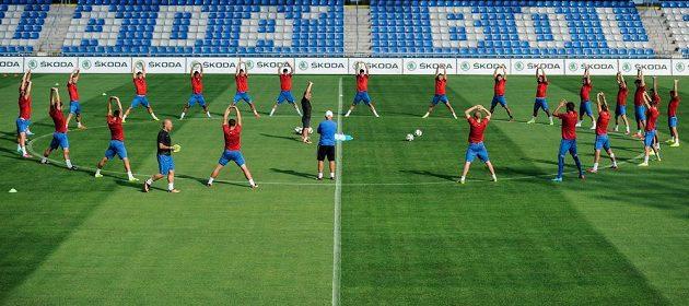 Hráči Mladé Boleslavi se chystají na úvodní duel 3. předkola Evropské ligy s Lyonem.