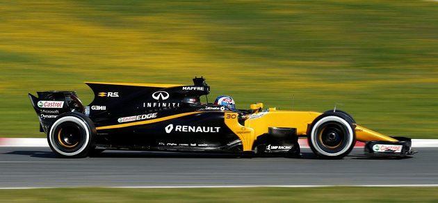Profil vozu stáje Renault pro sezónu 2017 na okruhu v Barceloně. Za volantem Jolyon Palmer.