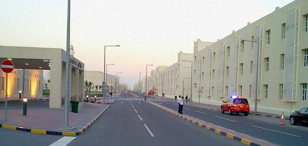 Domov zahraničních dělníků v Labour City, stotisícovém městě na okraji Dauhá.