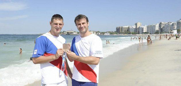 Judista Lukáš Krpálek (vlevo) a jeho trenér Petr Lacina.