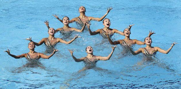 Synchronizované všechno. Čínské plavkyně.