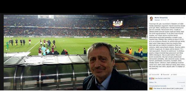 Martin Stropnický na facebooku komentoval výkon české reprezentace na ME.