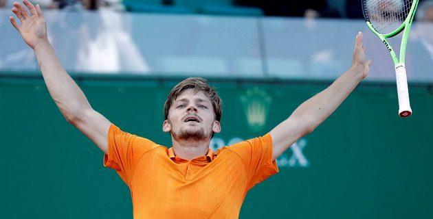 Belgický tenista David Goffin vyřadil ve čtvrtfinále na turnaji v Monte Carlu Srba Novaka Djokoviče.