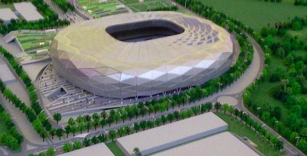 Takhle bude vypadat Quatar Foundation Stadium, který je zapuštěný sedmnáct metrů hluboko do skály.