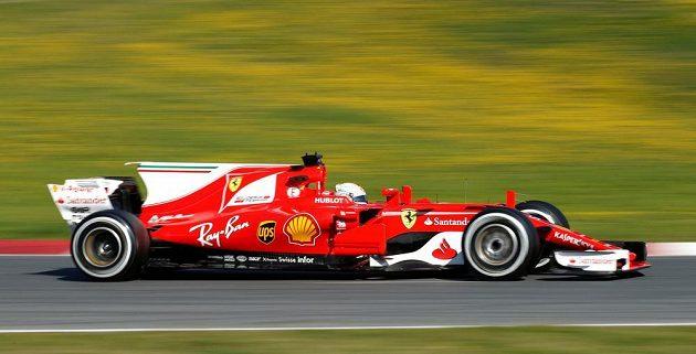 Profil vozu stáje Ferrari pro sezónu 2017 na okruhu v Barceloně.