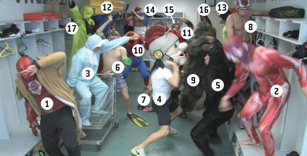 Harlem Shake AC Sparta: 1 - R. Polom, 2 - M. Hybš, 3 - A. Jánoš, 4 - V. Vidlička, 5 - J. Hušbauer, 6 - L. Krejčí, 7 - L. Vácha, 8 - M. Holek, 9 - O. Švejdík, 10 - P. Kadeřábek, 11 - T. Přikryl, 12 - R. Bednář, 13 - V. Kadlec, 14 - Masér T. Stránský, 15 - D. Lafata, 16 - M. Čech, 17 - T. Vaclík