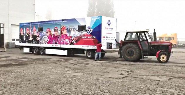 Nový kamión českých biatlonistů.