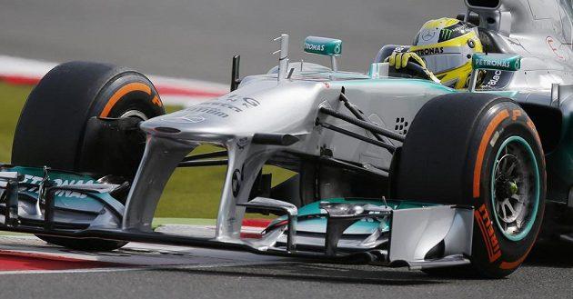 Německý pilot Nico Rosberg během Grand Prix v Silverstone.