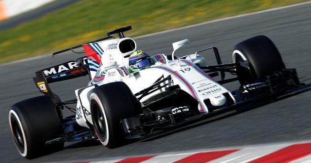 Felipe Massa za volantem vozu Williasm při testech v Barceloně.