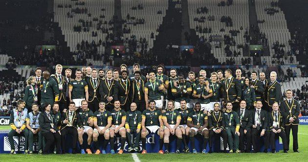 """Jihoafrické """"Antilopy"""" s bronzovými medailemi z MS."""