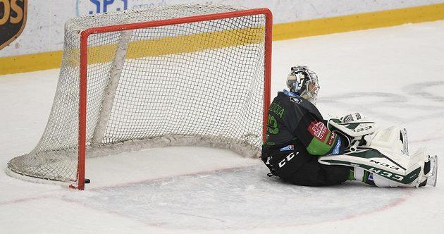 Brankář Mladé Boleslavi Jan Růžička poté, co inkasoval rozhodující gól zápasu se Spartou.